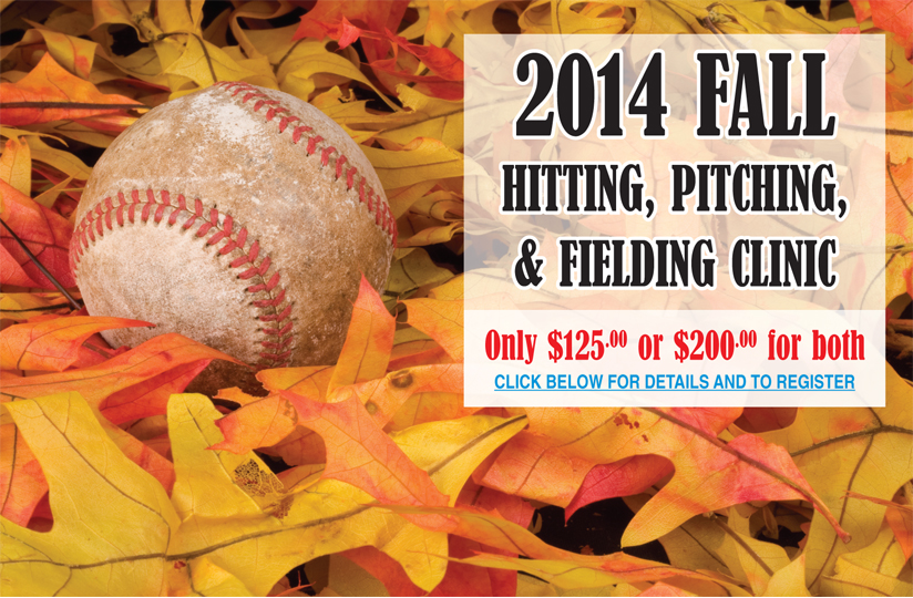 2014 FALL HITTING, PITCHING, & FIELDING CLINIC