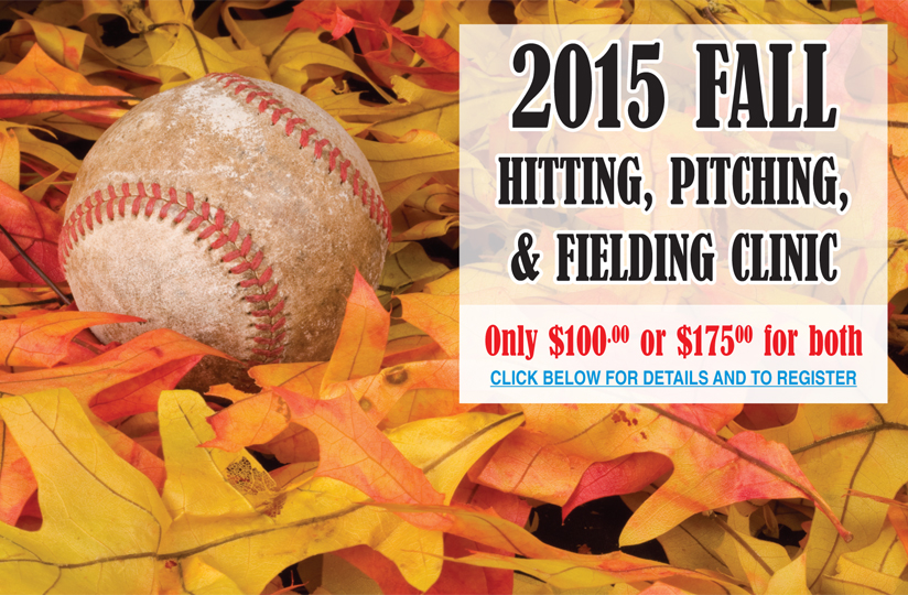 2015 FALL HITTING, PITCHING, & FIELDING CLINIC